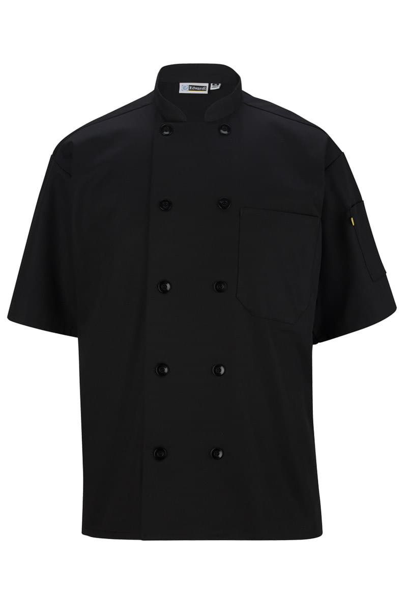 Casual 10 Button Short Sleeve Chef Coat
