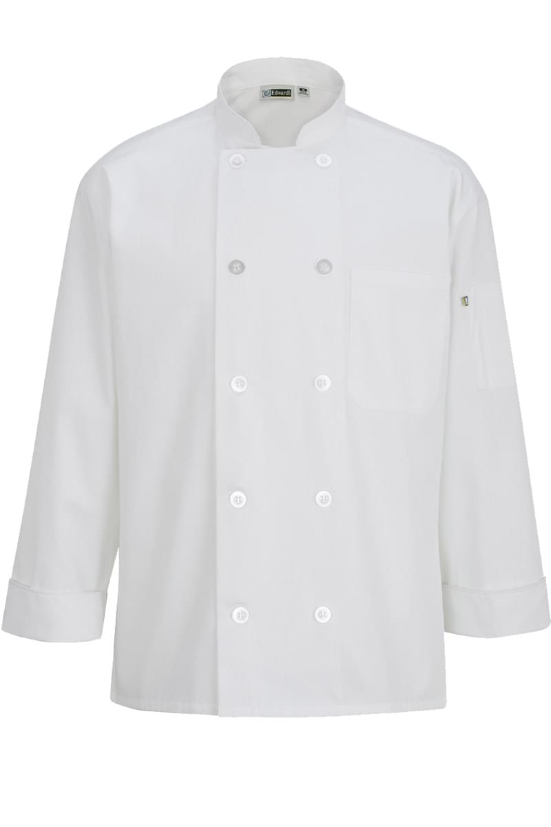 10 BUTTON CHEF COAT WITH MESH