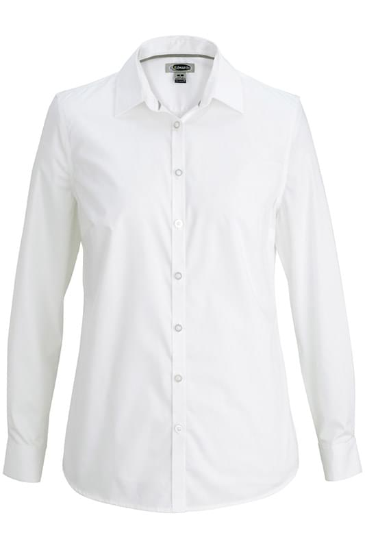 EDWARDS LADIES' L/S STRETCH BROADCLOTH BLOUSE