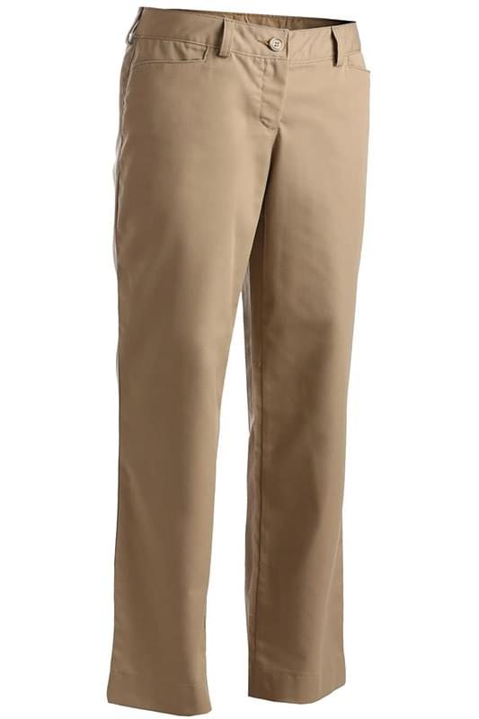 LADIES' MID-RISE FLAT FRONT RUGGED COMFORT PANT
