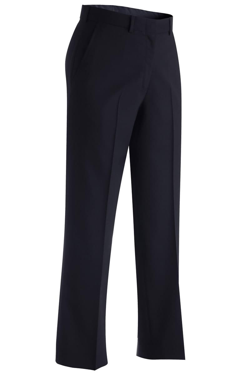 LADIES' LIGHTWEIGHT WOOL BLEND FLAT FRONT PANT