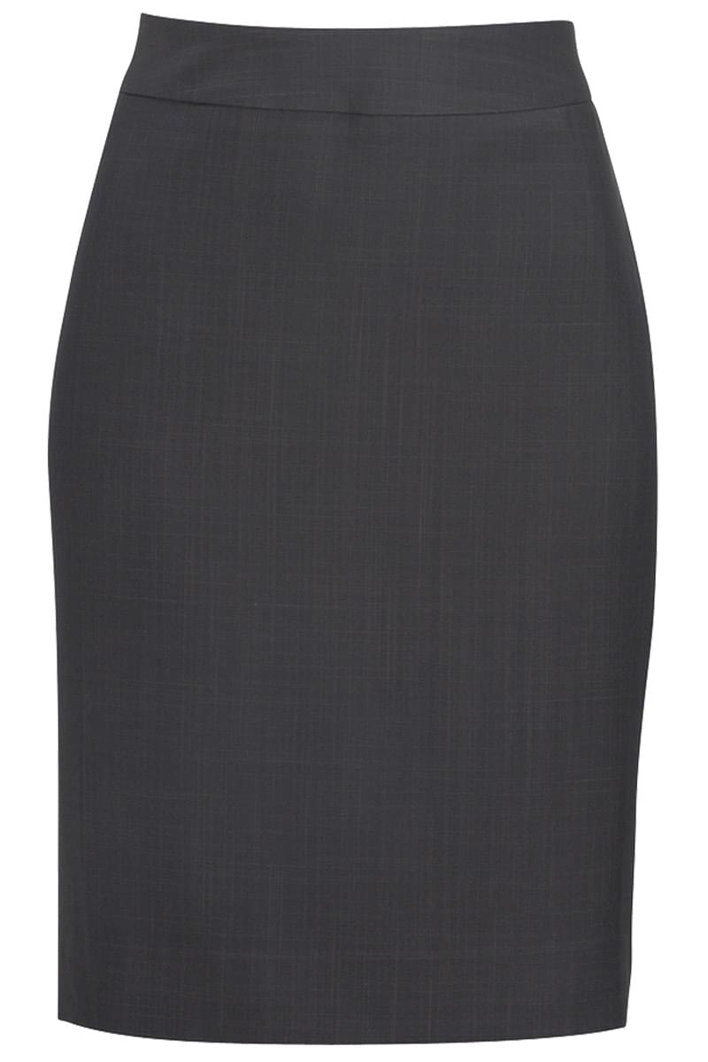 LADIES' INTAGLIO MICROFIBER STRAIGHT SKIRT