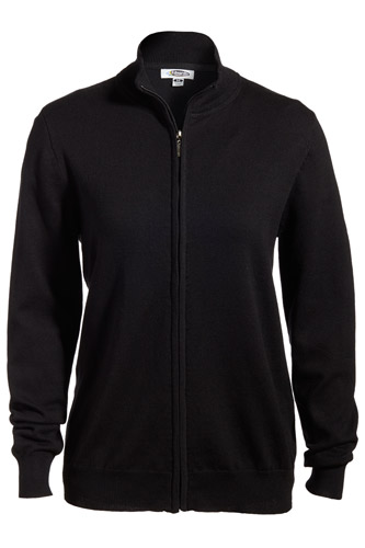 Ladies' Full-Zip Fine Gauge Cardigan Sweater