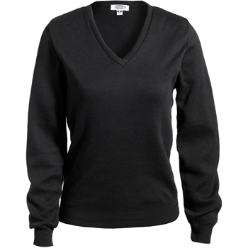 Women's Cotton Cashmere V-Neck Sweater