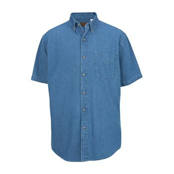 DENIM MIDWEIGHT SHORT SLEEVE SHIRT