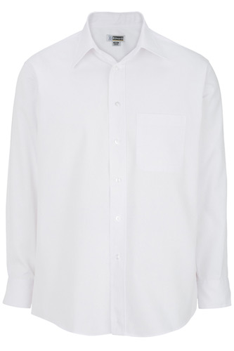 Men's Easy Care Point Collar Poplin Shirt