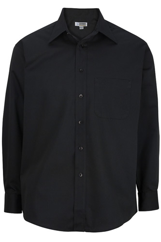 Men's Easy Care Poplin Point Collar Shirt
