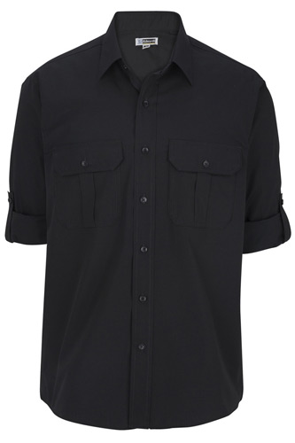 Men's Poplin Roll Up Sleeve Shirt