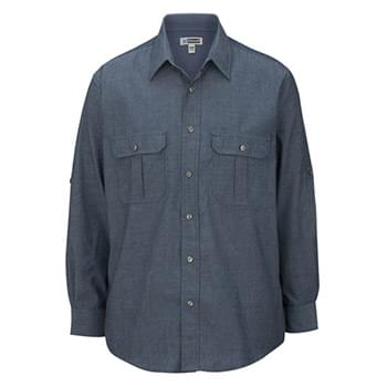 MEN'S CHAMBRAY ROLL UP SLEEVE SHIRT