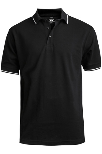 Blended Pique Short Sleeve Polo With Tipped Collar/Sleeve