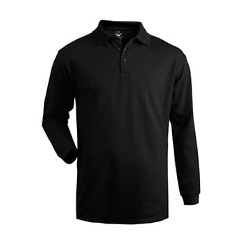 Men's Long Sleeve Pique Polo (No Pocket)