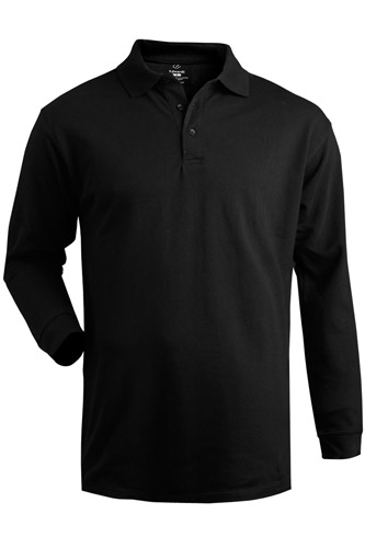Cotton Pique Long Sleeve Polo