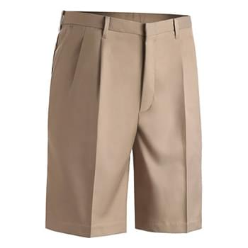 MEN'S MICROFIBER PLEATED FRONT SHORT