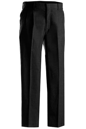 Men's Washable Wool Blend Pleated Pant