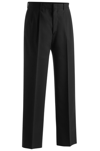 MEN'S LIGHTWEIGHT WOOL BLEND PLEATED PANT
