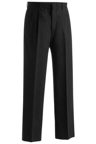 MEN'S WOOL BLEND PLEATED DRESS PANT