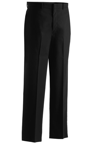 MEN'S WASHABLE WOOL BLEND FLAT FRONT PANT