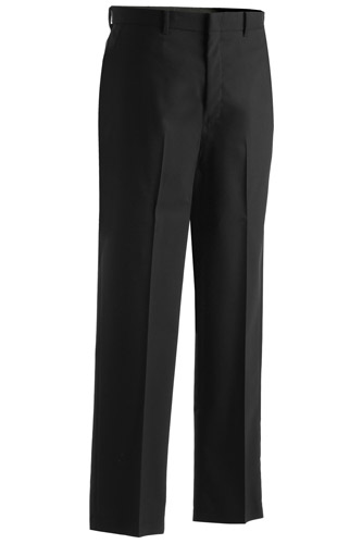 MEN'S WOOL BLEND FLAT FRONT DRESS PANT
