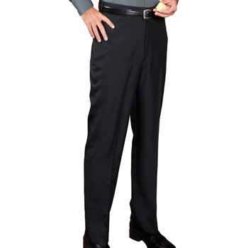 Men's Polyester No Pocket Flat Front Casino Pant