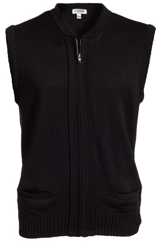 Full-Zip Acrylic Sweater Vest