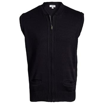 FULL-ZIP HEAVYWEIGHT ACRYLIC SWEATER VEST