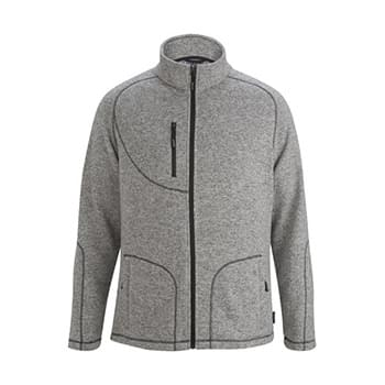 Men's Sweater Knit Fleece Jacket