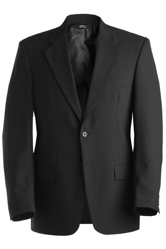 Men's Single Breasted Wool Blend Suit Coat