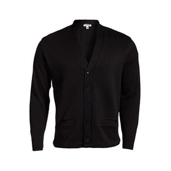 Edwards V-Neck Cardigan with two pockets is built tough. Heavy Duty Tuff-Pil Plus® high-tech acrylic fiber with lo-