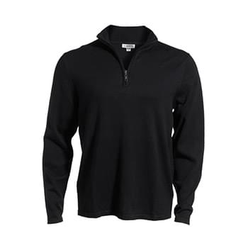 QUARTER ZIP FINE GAUGE SWEATER