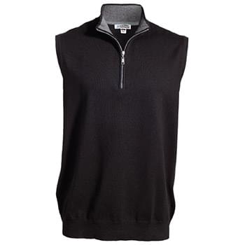 Quarter Zip Fine Gauge Sweater Vest