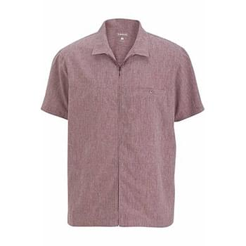 MEN'S V-NECK ZIP SERVICE SHIRT