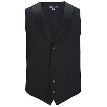 Men's Black Satin Shawl Vest