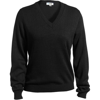 Women's V-Neck Sweater With Tuff-Pil Plus