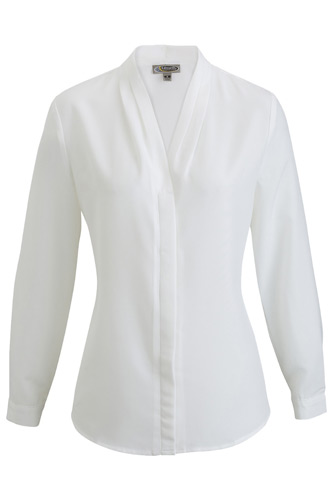 Ladies' V-Neck Long Sleeve Blouse