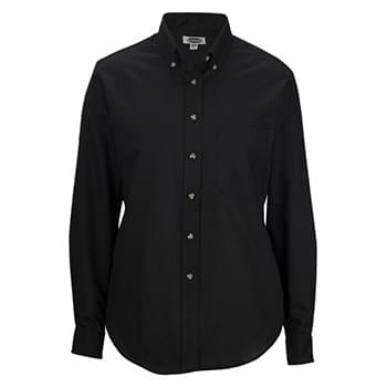 LADIES' EASY CARE LONG SLEEVE POPLIN SHIRT