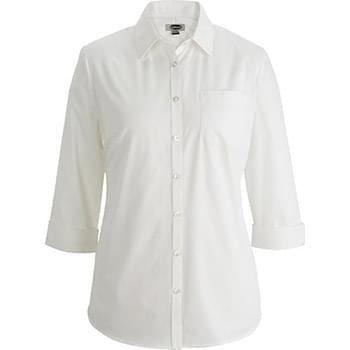Ladies Essential Broadcloth Shirt ? Sleeve