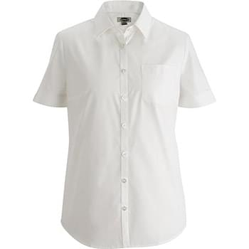 Ladies Essential Broadcloth Shirt Short Sleeve