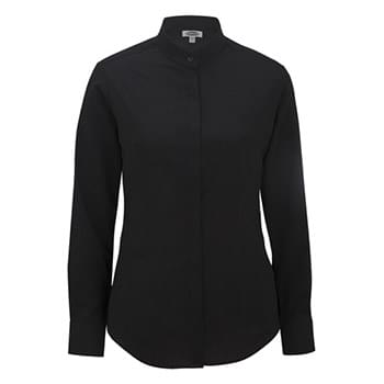 LADIES' BATISTE BANDED COLLAR SHIRT