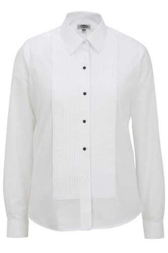 Ladies' Point Collar Tuxedo Shirt