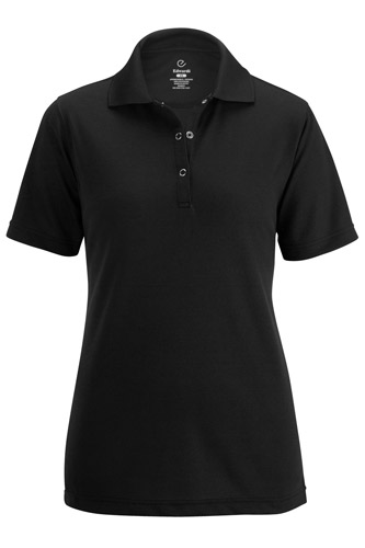 Ladies' Snap Front Hi-Performance Short Sleeve Polo