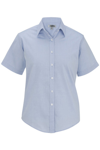 Ladies' Pinpoint Oxford Shirt - Short Sleeve