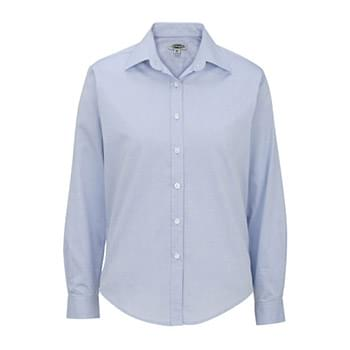 LADIES' PINPOINT OXFORD SHIRT - LONG SLEEVE