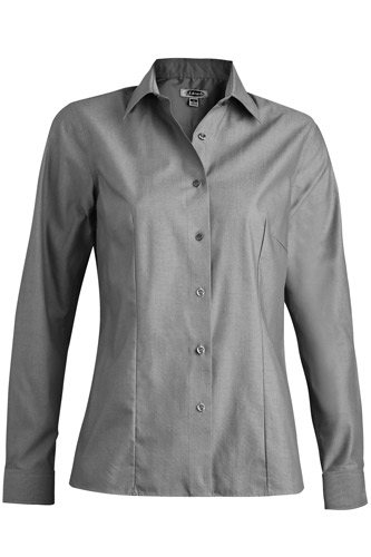 LADIES' OXFORD WRINKLE-FREE LONG SLEEVE BLOUSE