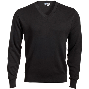 Men's Cotton Cashmere V-Neck Sweater
