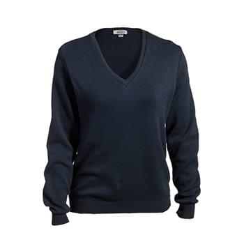 Ladies' V-Neck Cotton Sweater