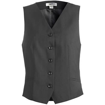 LADIES' SYNERGY WASHABLE HIGH-BUTTON VEST