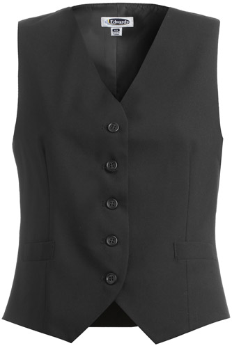 Women's High Button Vest