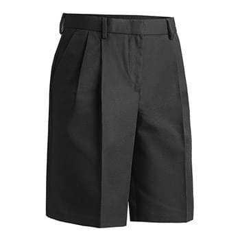 LADIES' BUSINESS CASUAL PLEATED CHINO SHORT