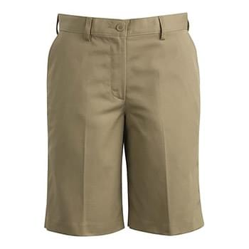 Ladies Ultimate Khaki Flat Front Short