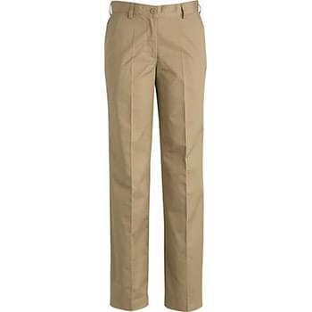 Ladies Ultimate Khaki Flat Front Pant